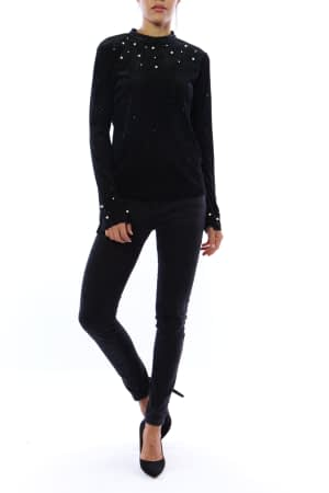 Glittery Jumper Black