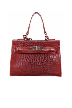 Mini North Faux Croc Bag