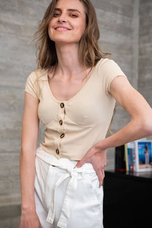 Stone Button Top