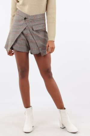 Camel Check Shorts