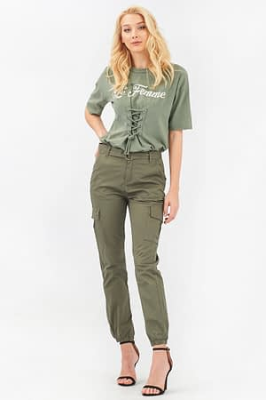 Cargo Pants with Belt and Chain
