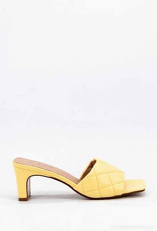 Yellow Heeled Mules