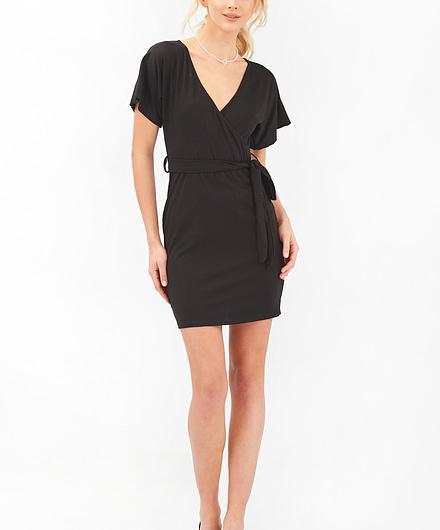 Black Summer Wrap Dress
