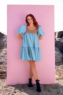 Blair Puff Sleeves Dress