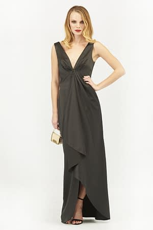 Waterfall Satin Maxi Dress