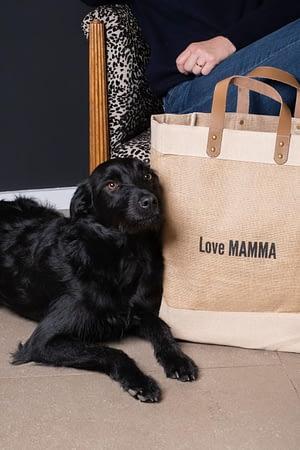 Cabas Jute Love Mamma