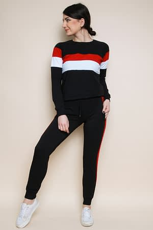 Contrast Stripe Loungewear Set