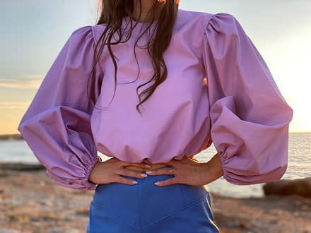 Jagger Volume Top with Back Ties