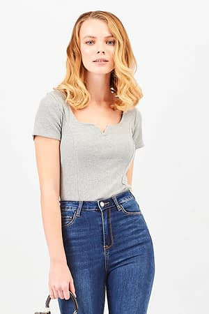 Crop Gray T-shirt