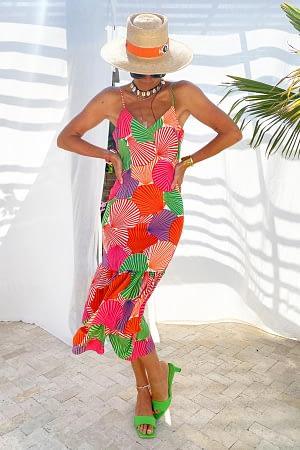 Summer Shell Strappy Frida Dress