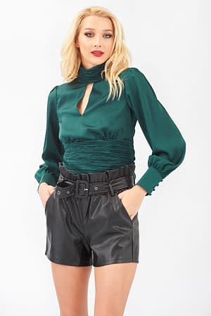 Night Out Top Green