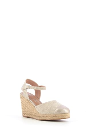 Wedges with Beige Detail