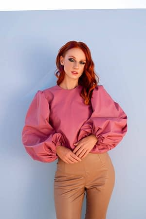 Cher Volume Top with Back Ties