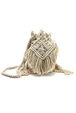 Handmade Ecru Shoulder Bag