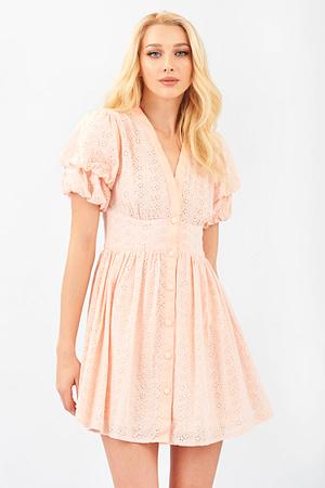 Pink Lace Romantic Mini Dress