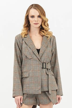 Camel Check Jacket
