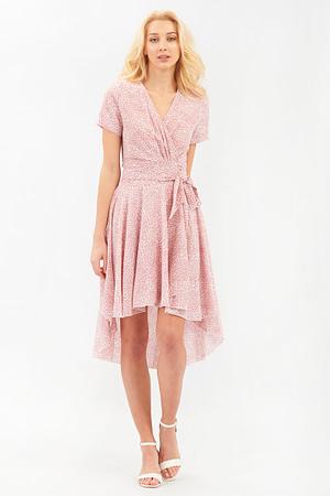 Printed Pink Wrap Dress