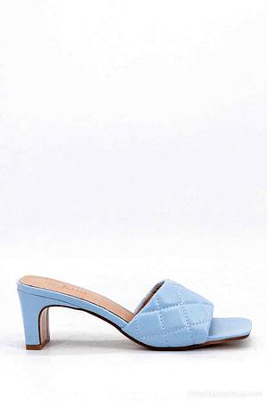 Light Blue Heeled Mules