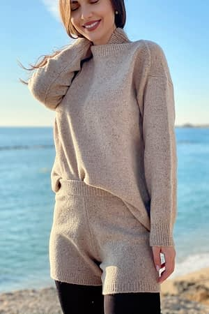 Knitted Beige Sweater