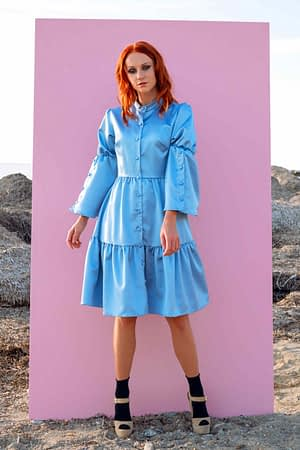 Alice Satin Shirt Dress