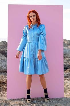 Alice Satin Shirt Dress