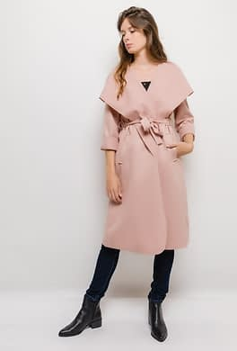 Long Wrap Belted Jacket